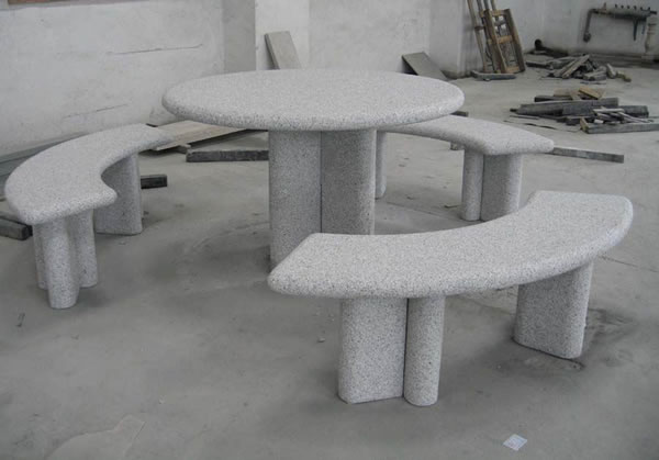 Astonishing Stone Table Bench Garden Tables Benches Stone Furniture Theyellowbook Wood Chair Design Ideas Theyellowbookinfo