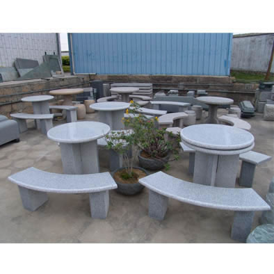 Tremendous Stone Table Bench Garden Tables Benches Stone Furniture Theyellowbook Wood Chair Design Ideas Theyellowbookinfo